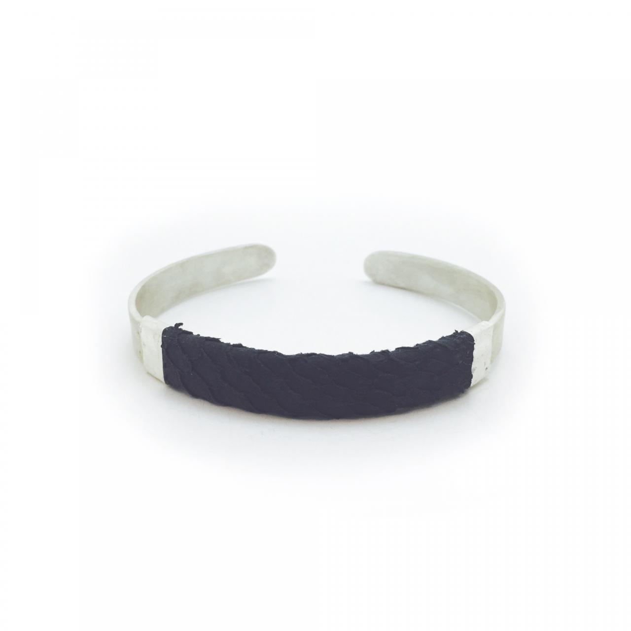 salmon-skin-leather-bracelet