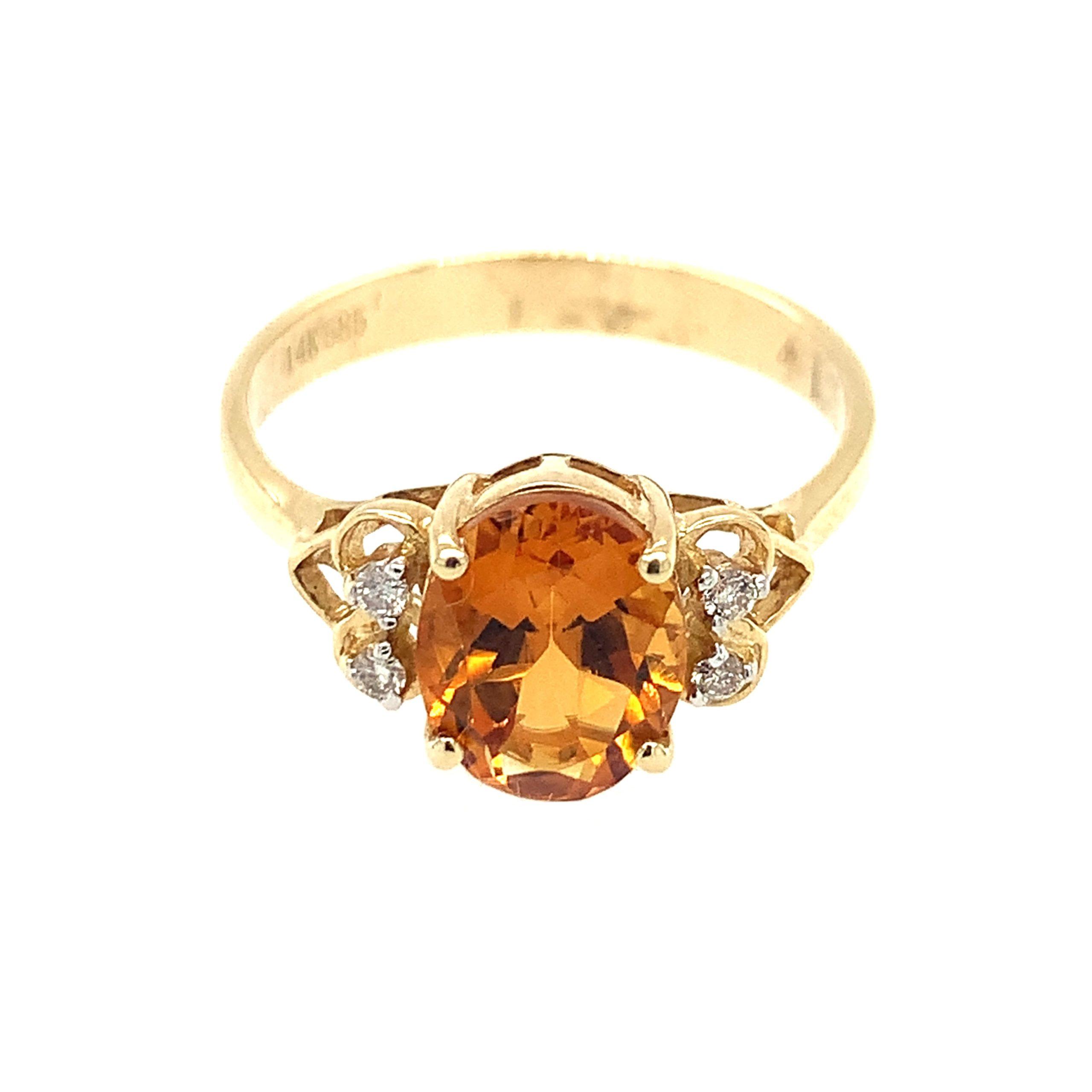 Yellow Gold Citrine Ring