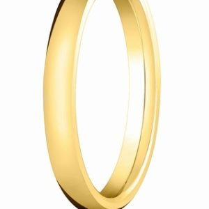 3mm Comfort Fit Gold Wedding Band