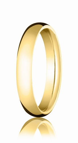 4mm Gold Comfort Fit Wedding Band