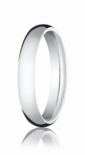 4mm White Gold Comfort Fit Wedding Band
