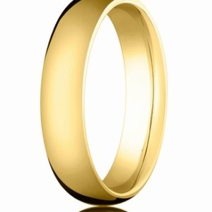 5mm Gold Comfort Fit Wedding Band