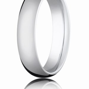 5mm White Gold Comfort Fit Wedding Band
