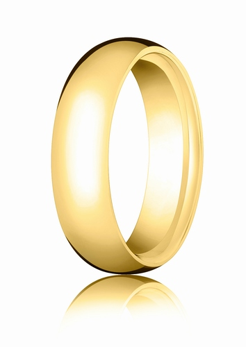 6mm Gold Comfort Fit Wedding Band