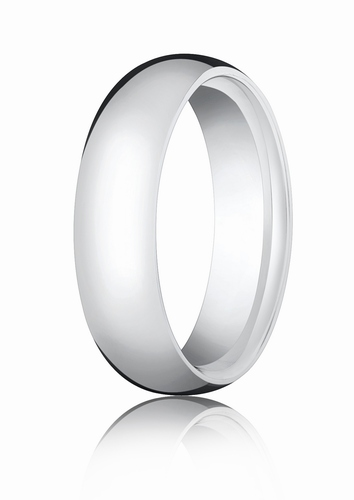 6mm White Gold Comfort Fit Wedding Band