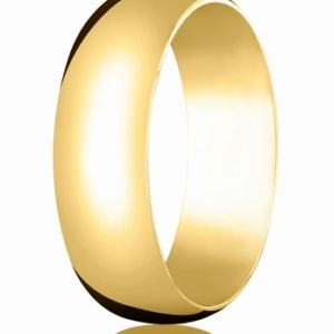 7mm Gold Comfort Fit Wedding Band
