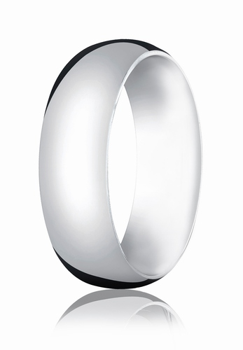 7mm White Gold Comfort Fit Wedding Band