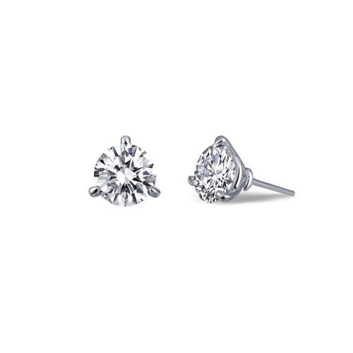 Solitaire Studs in Martini 3-Prong Setting