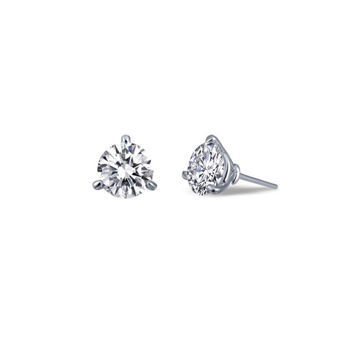 Small Solitaire Studs in Martini 3-Prong Setting