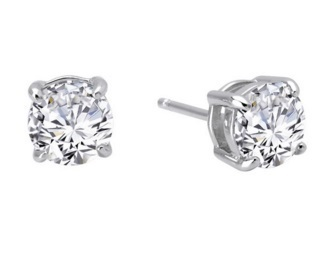 Solitaire Studs in 4-Prong Setting