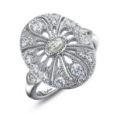 Art Deco Inspired Oval Fashion Ring