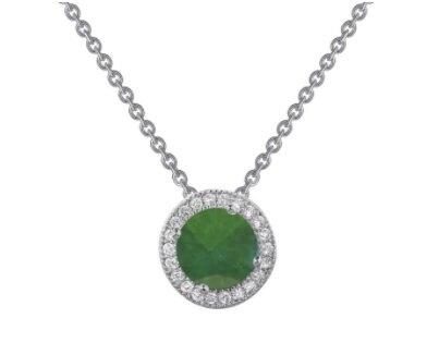 Lafonn Created Emerald Round Pendant