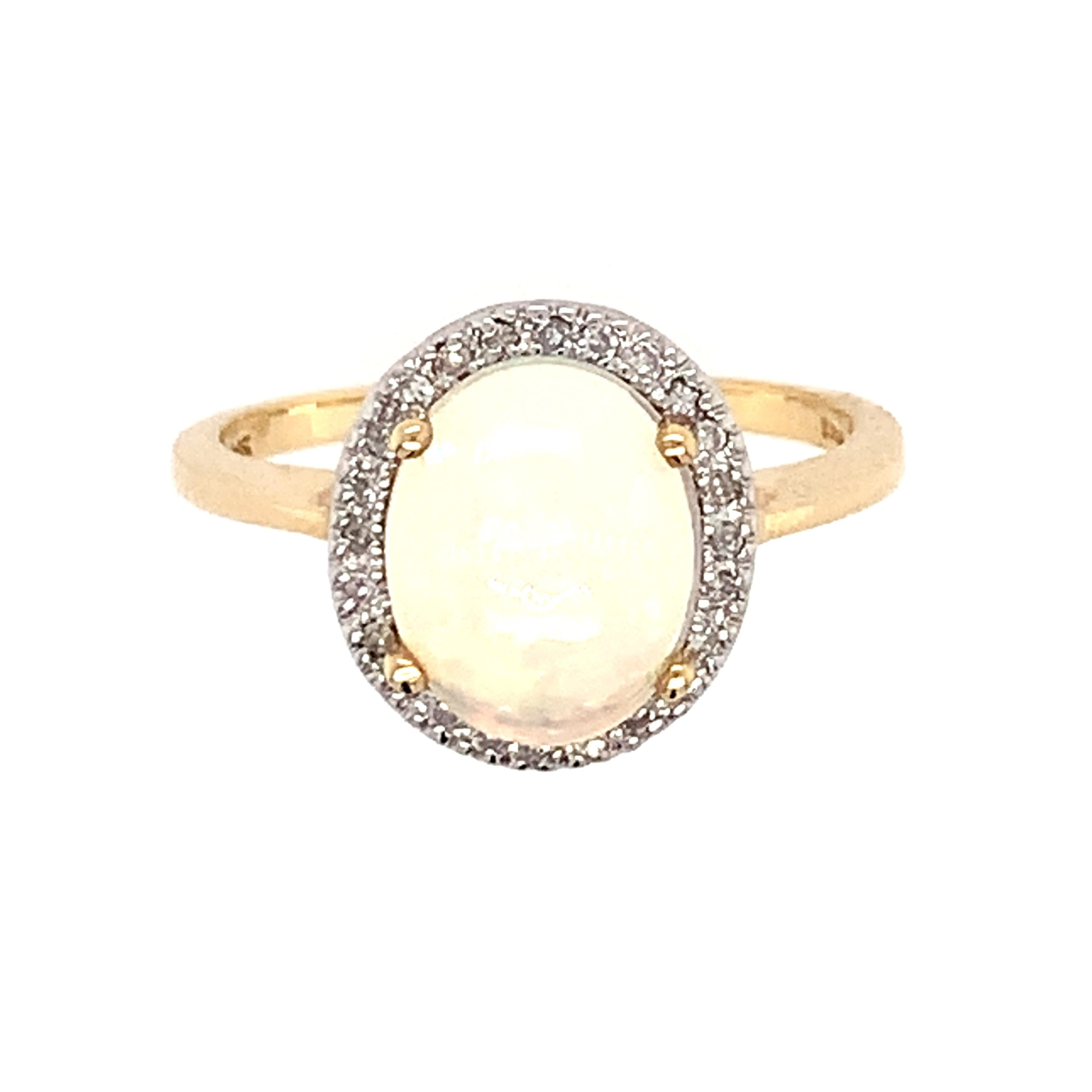 Yellow Gold Ethiopian Opal Ring