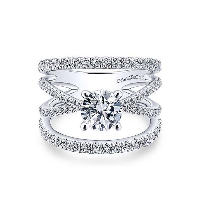 Diamond Semi-mount Engagement Ring