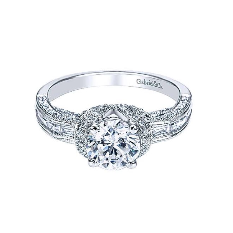 Diamond Semi-mount Engagement Ring