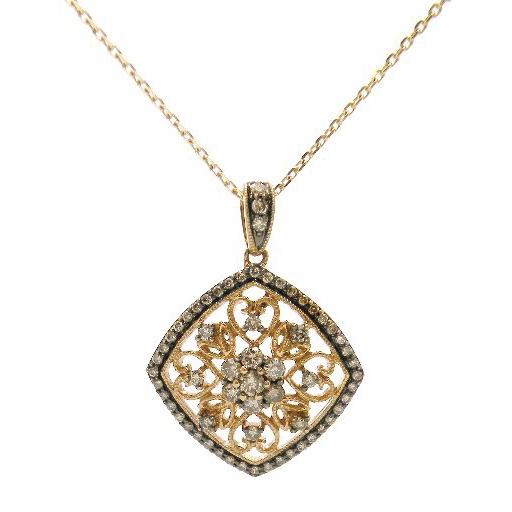 Rose Gold Fashion Diamond Pendant