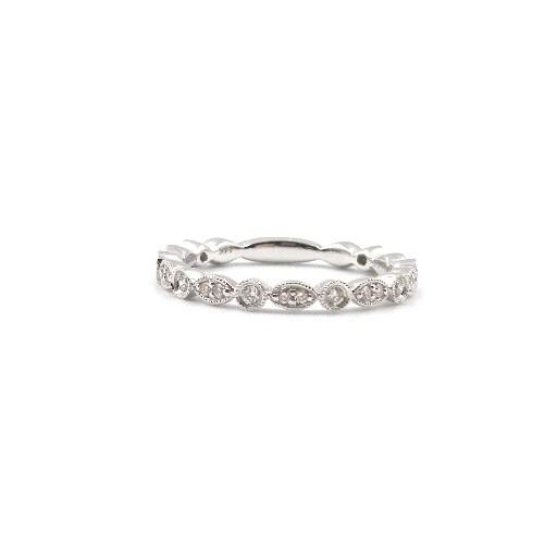 14 Karat White Gold Diamond Fashion Ring