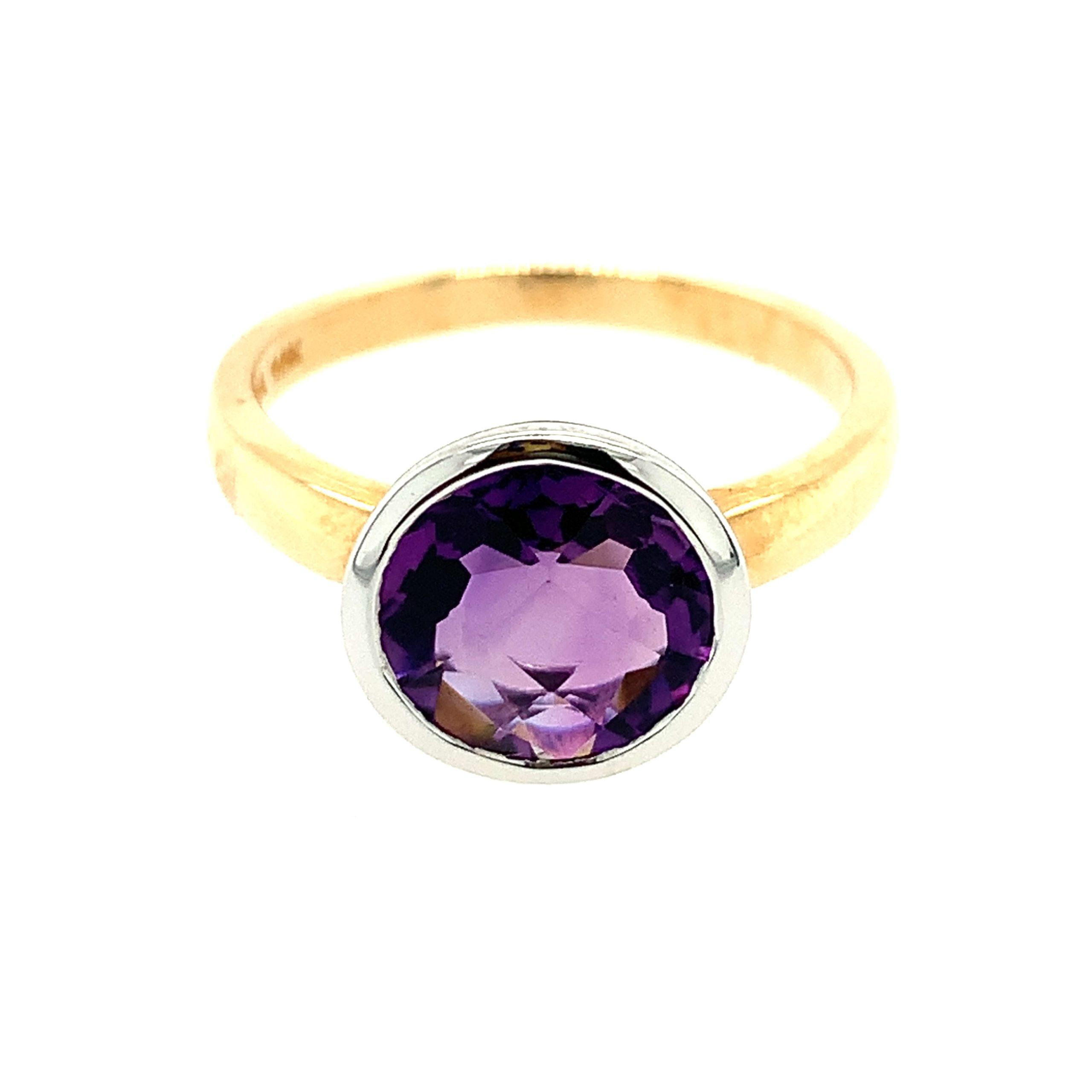 Two-Tone Amethyst Ring