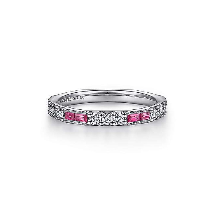 Diamond & Ruby Stackable