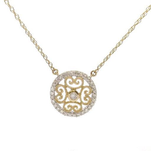 10K Yellow Gold Diamond Necklace