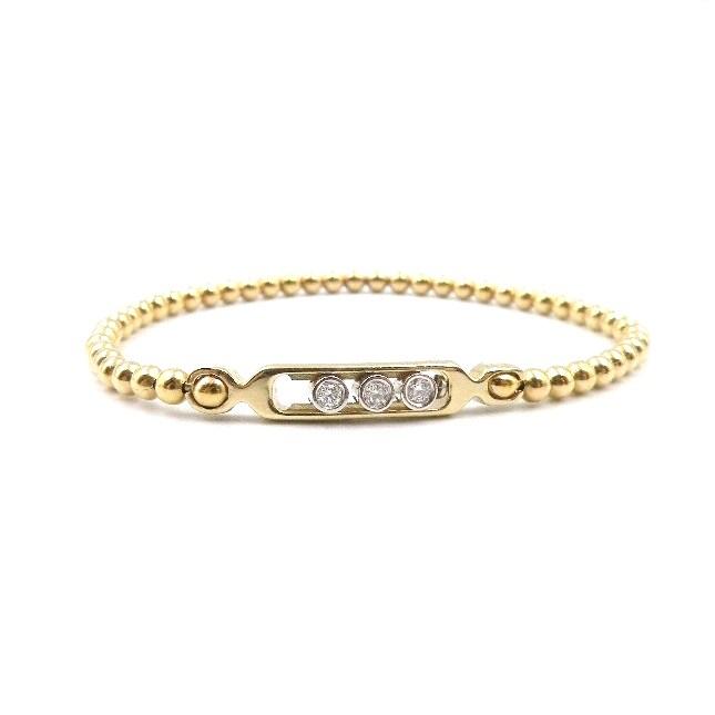 14 Karat White and Yellow Gold Diamond Bracelet