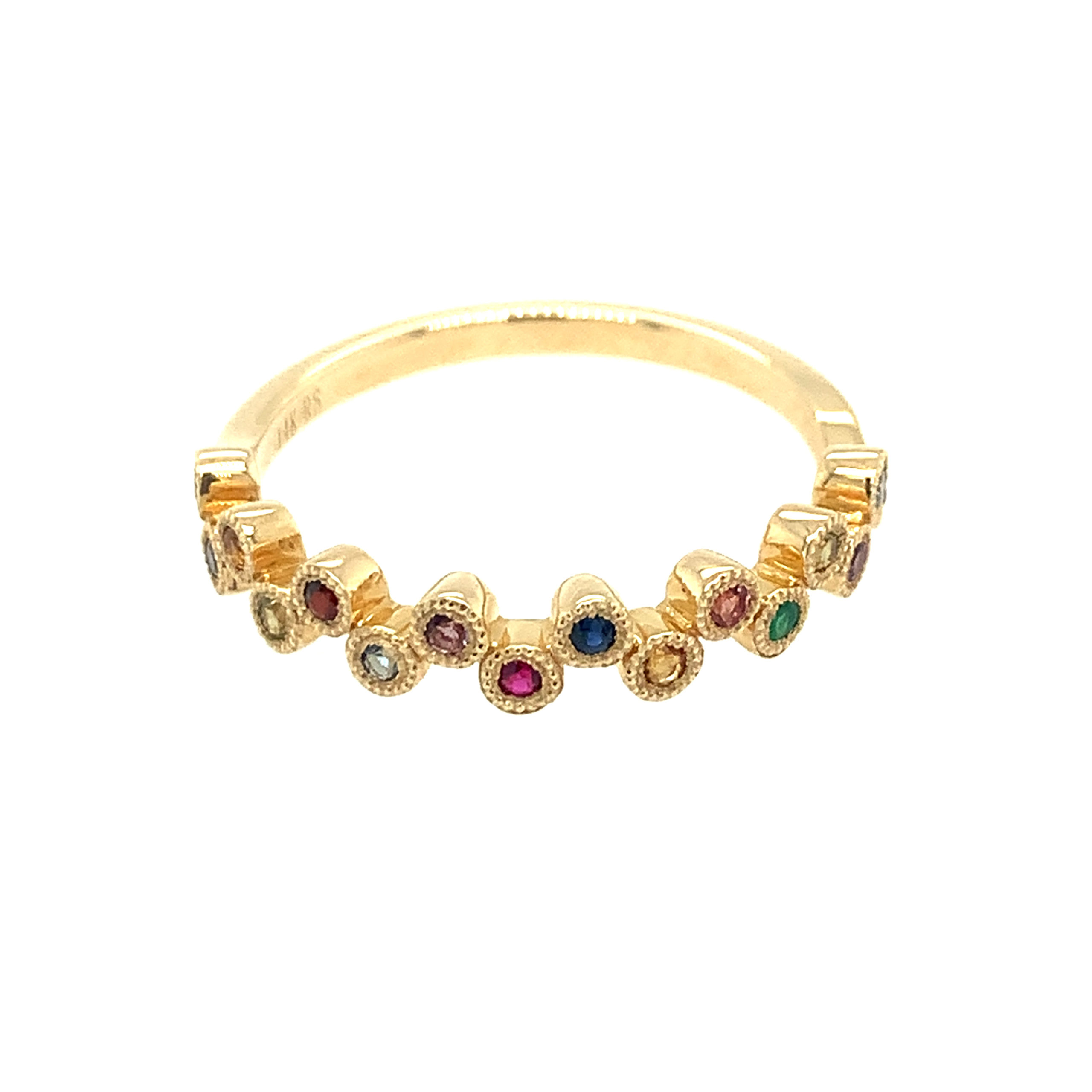 Yellow Gold Gem Stackable Ring