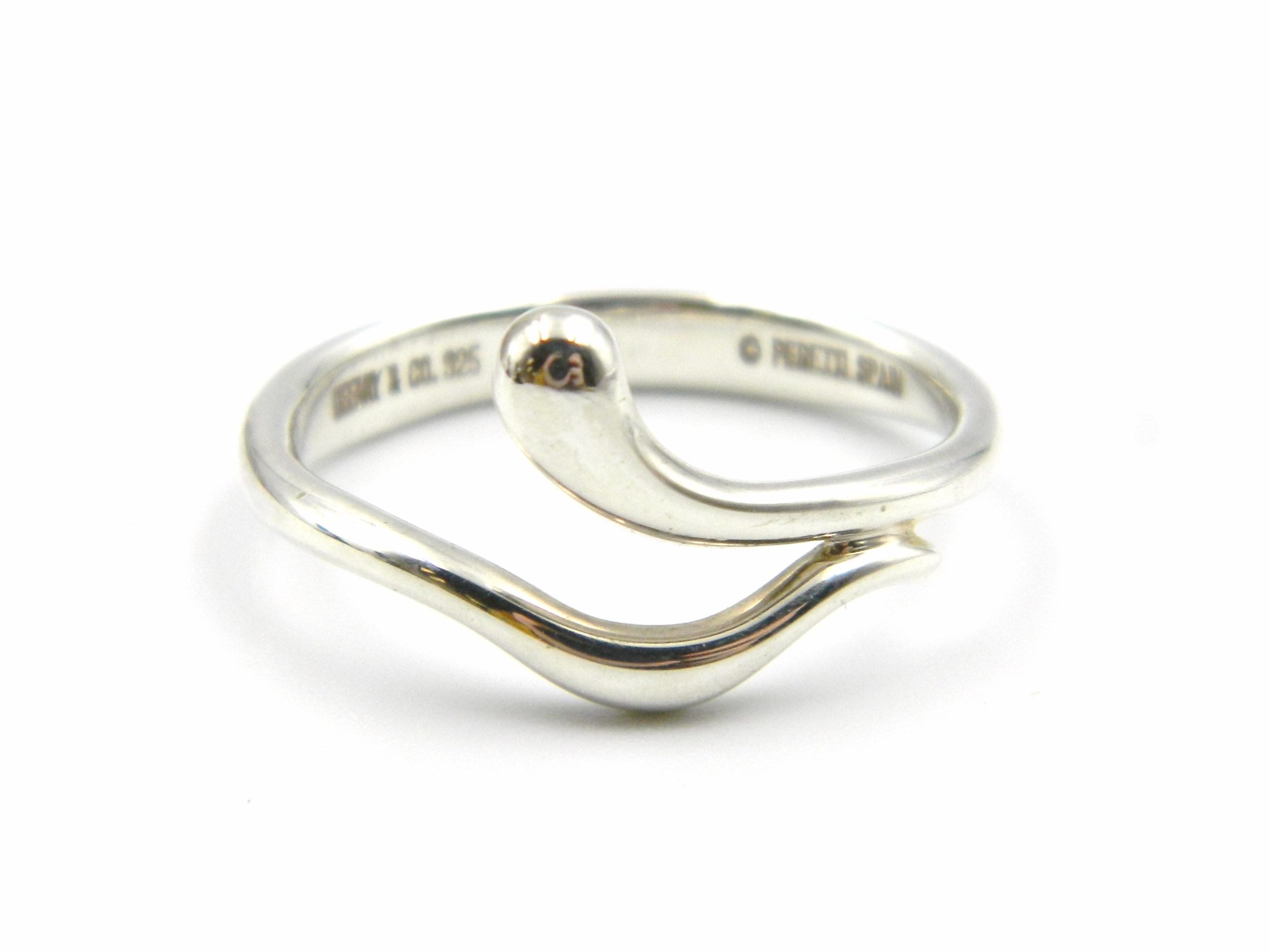Estate Piece - Sterling Silver Teardrop Wave Ring