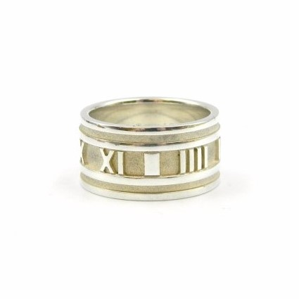 Estate Piece - Sterling Silver Wide Atlas Ring