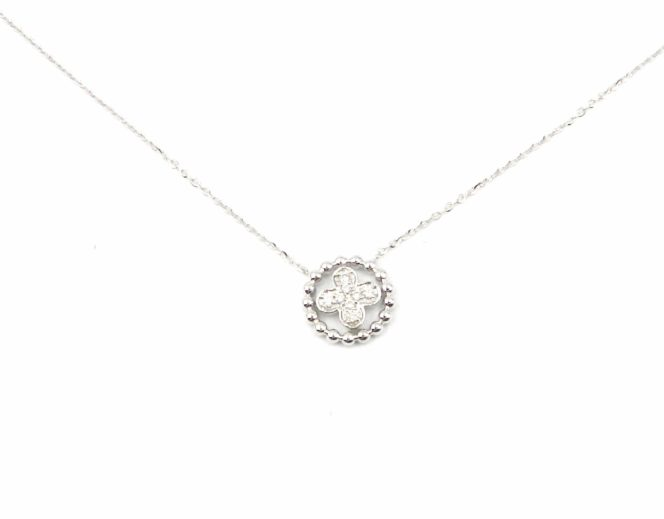 White Gold Diamond Pendant Necklace