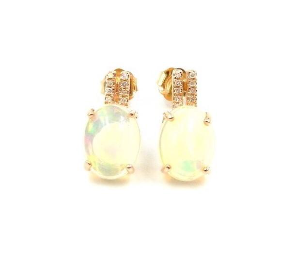 Rose Gold Ethiopian Opal Earrings