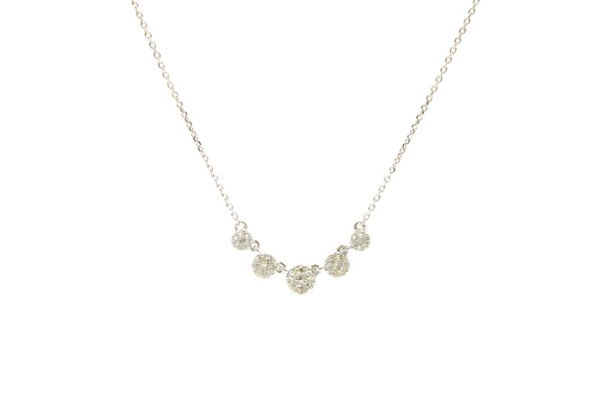 White Gold Diamond Circle Necklace