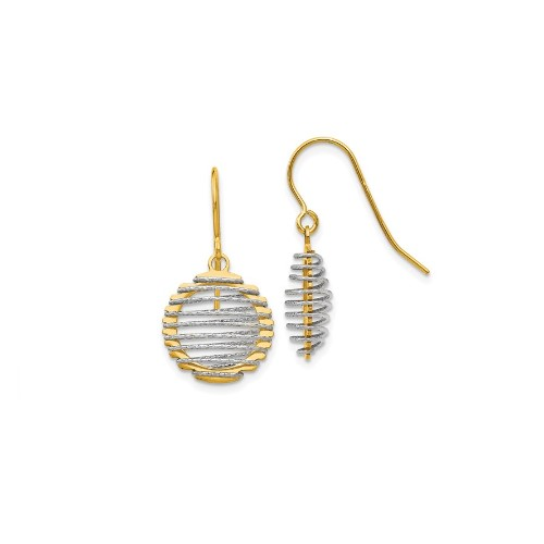 Leslie's Two-Tone Dangle Earrings