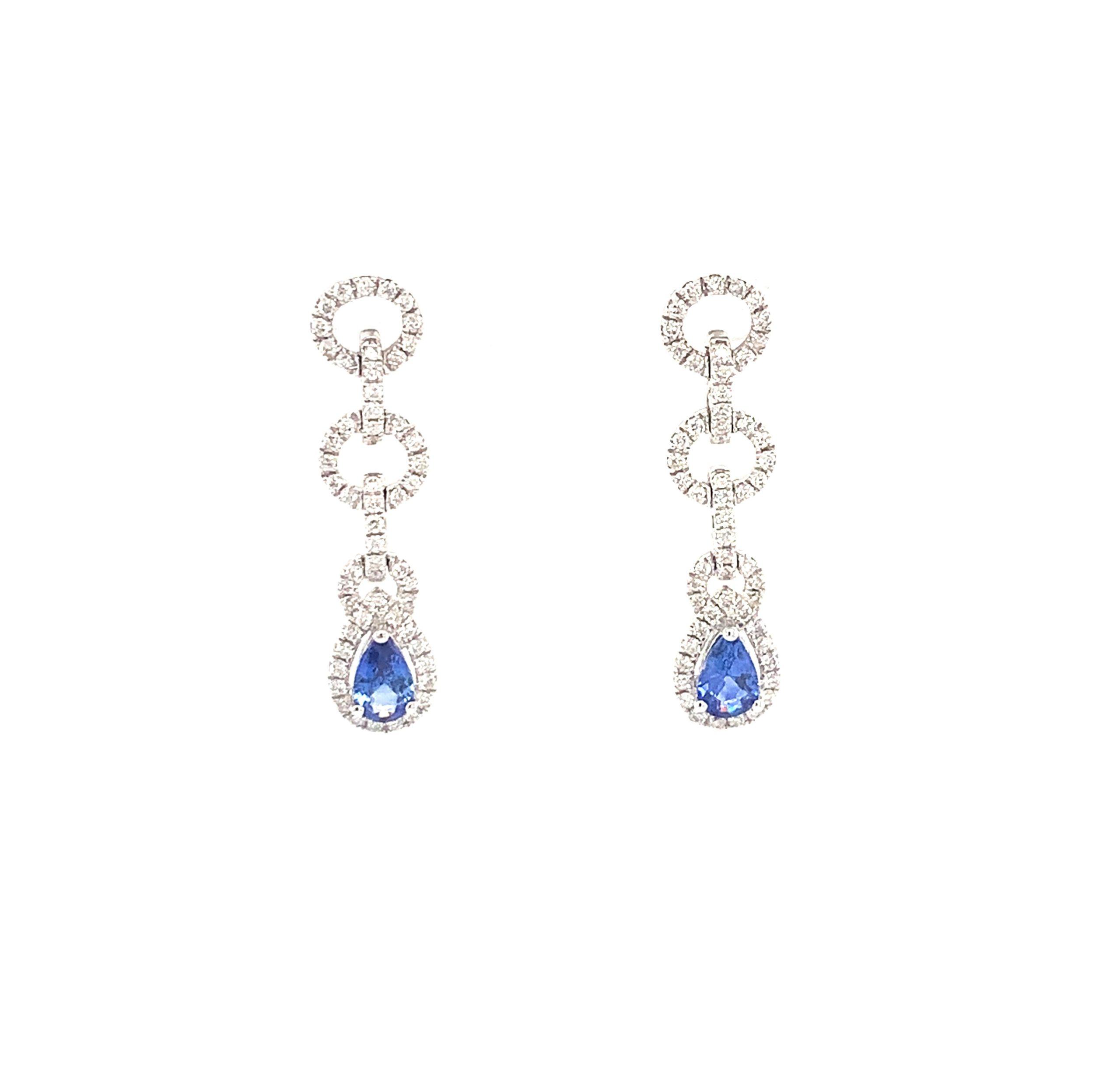 White Gold Sapphire Earrings