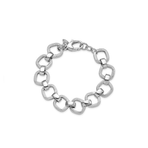 Leslie's Rhodium Plated Sterling Silver Bracelet