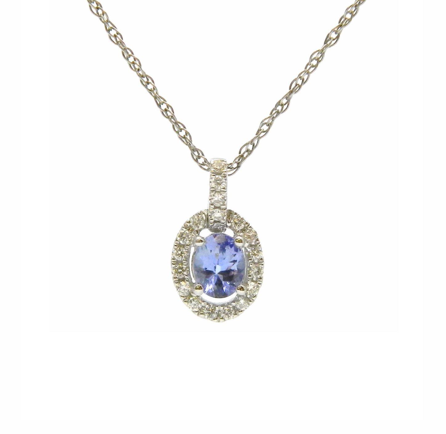 White Gold Tanzanite Pendant