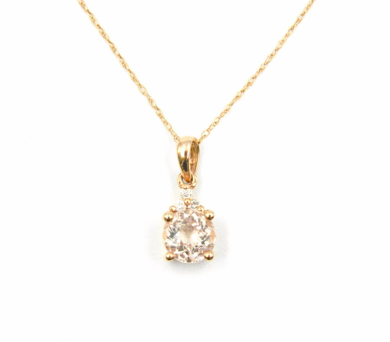 Rose Gold Morganite Pendant