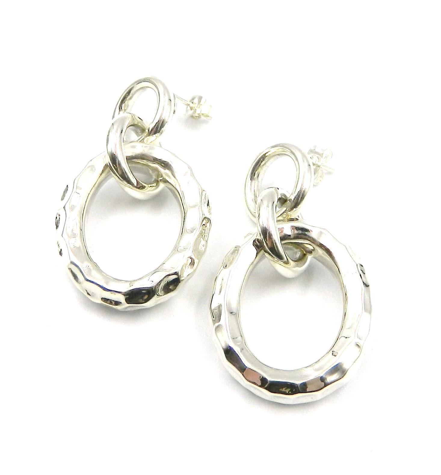 Sterling Silver Interlocked Earrings