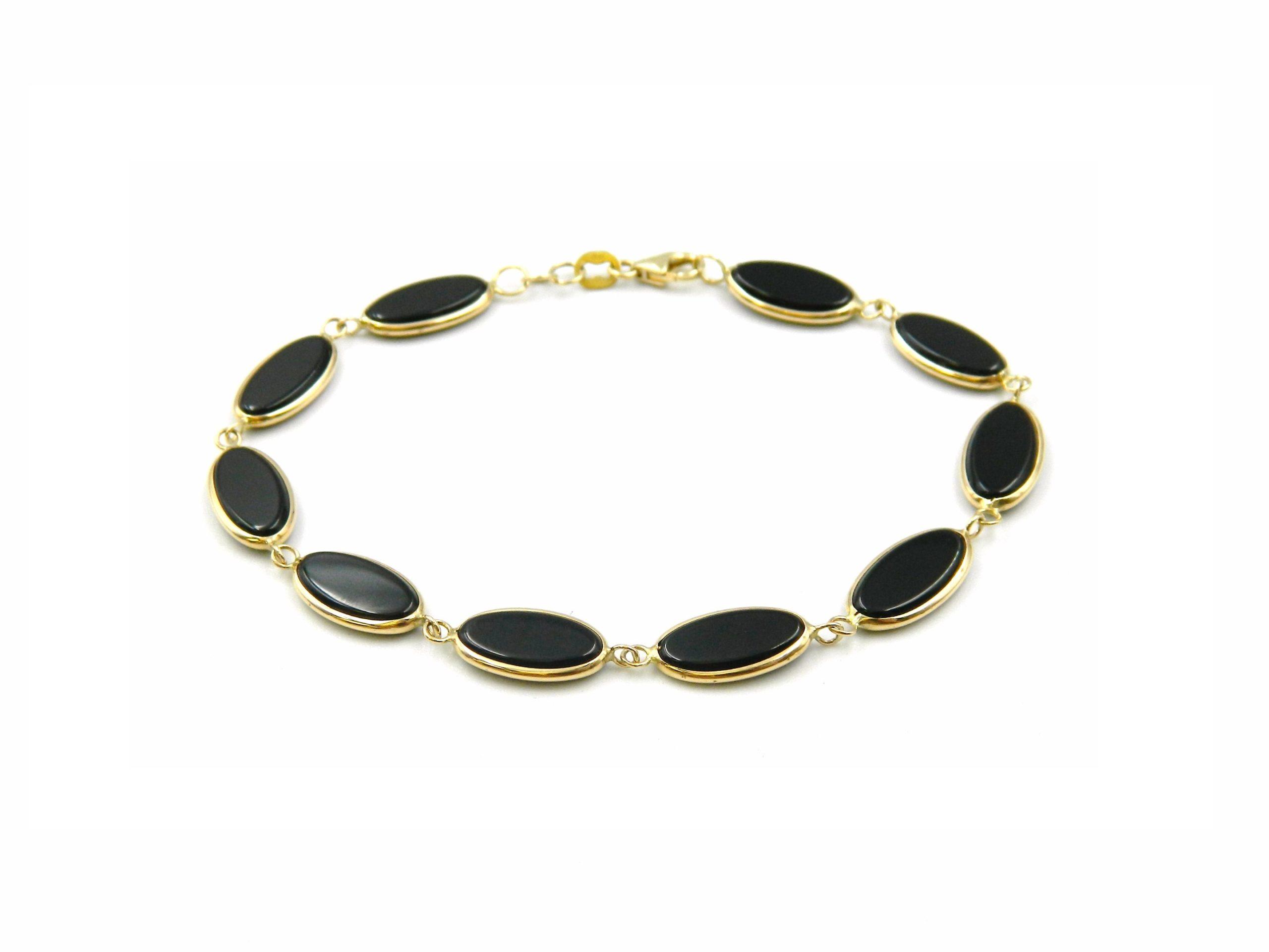 Yellow Gold Onyx Bracelet