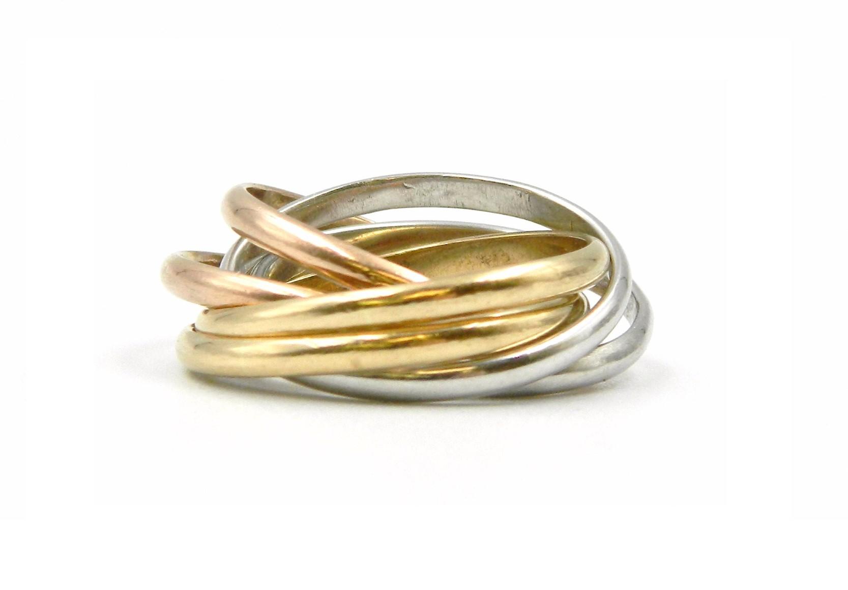 Estate Piece - Gold Tri-Tone Rolling Ring