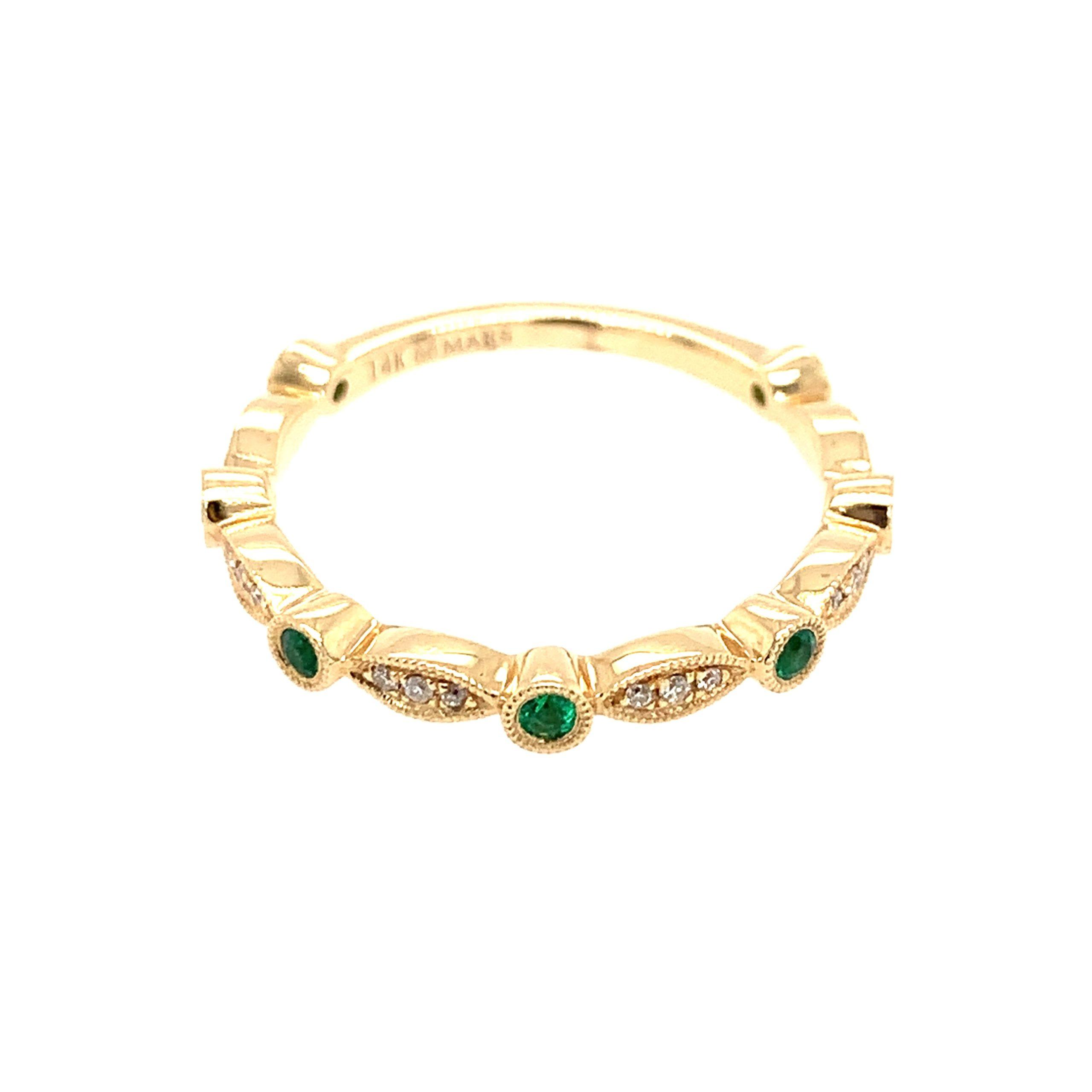 Yellow Gold Emerald Ring