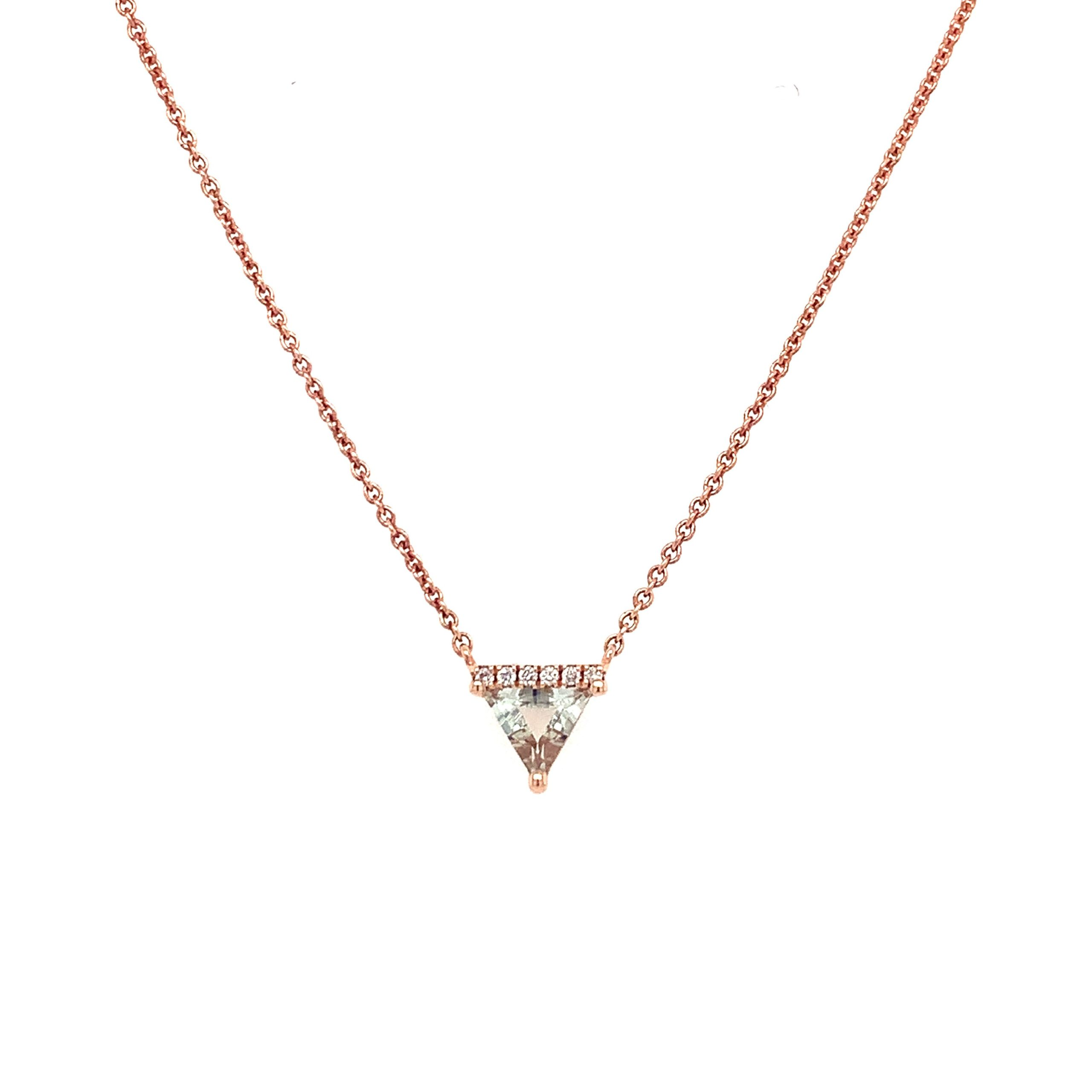Rose Gold Green Amethyst Pendant Necklaces