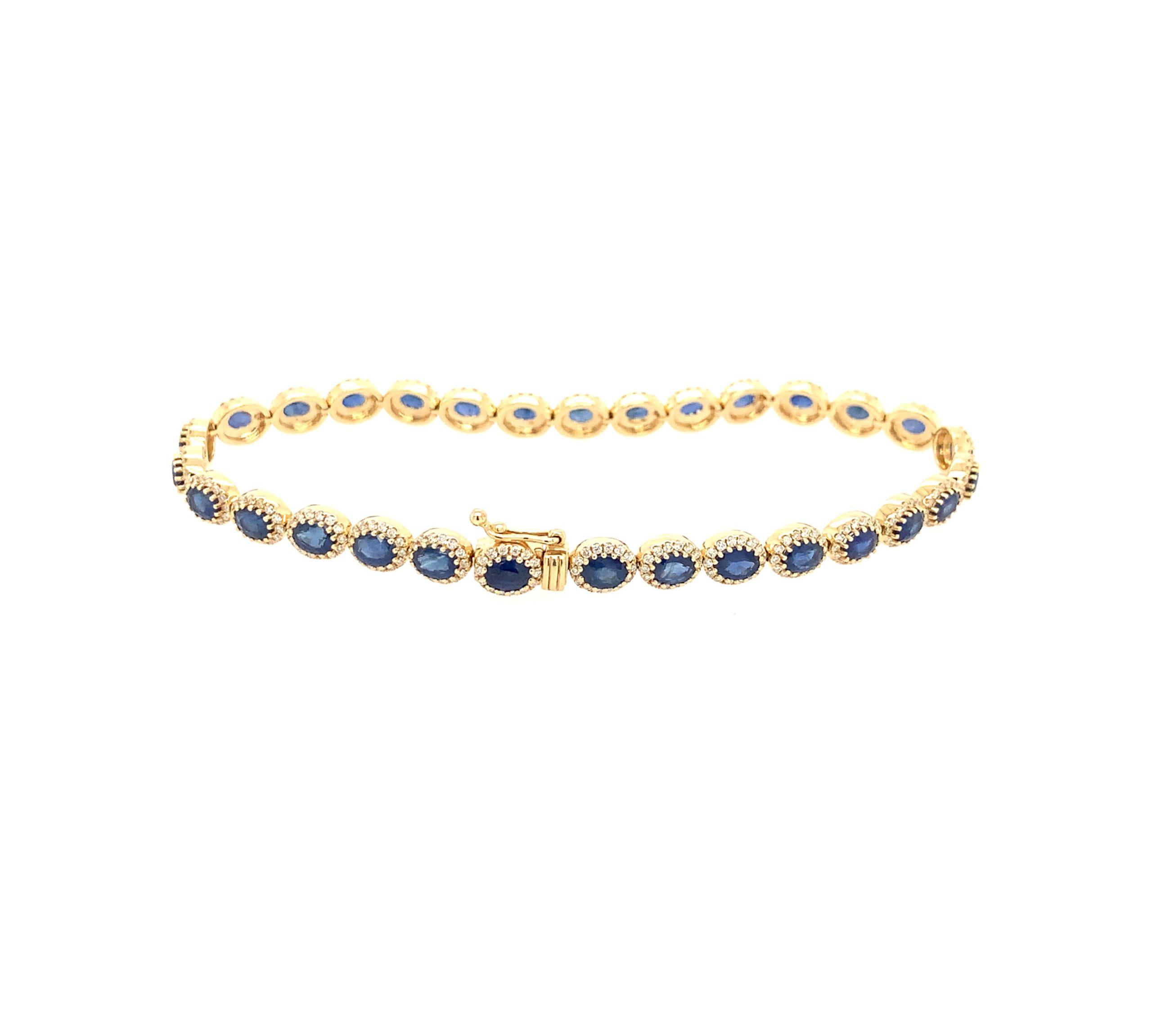 Yellow Gold Sapphire Bracelet