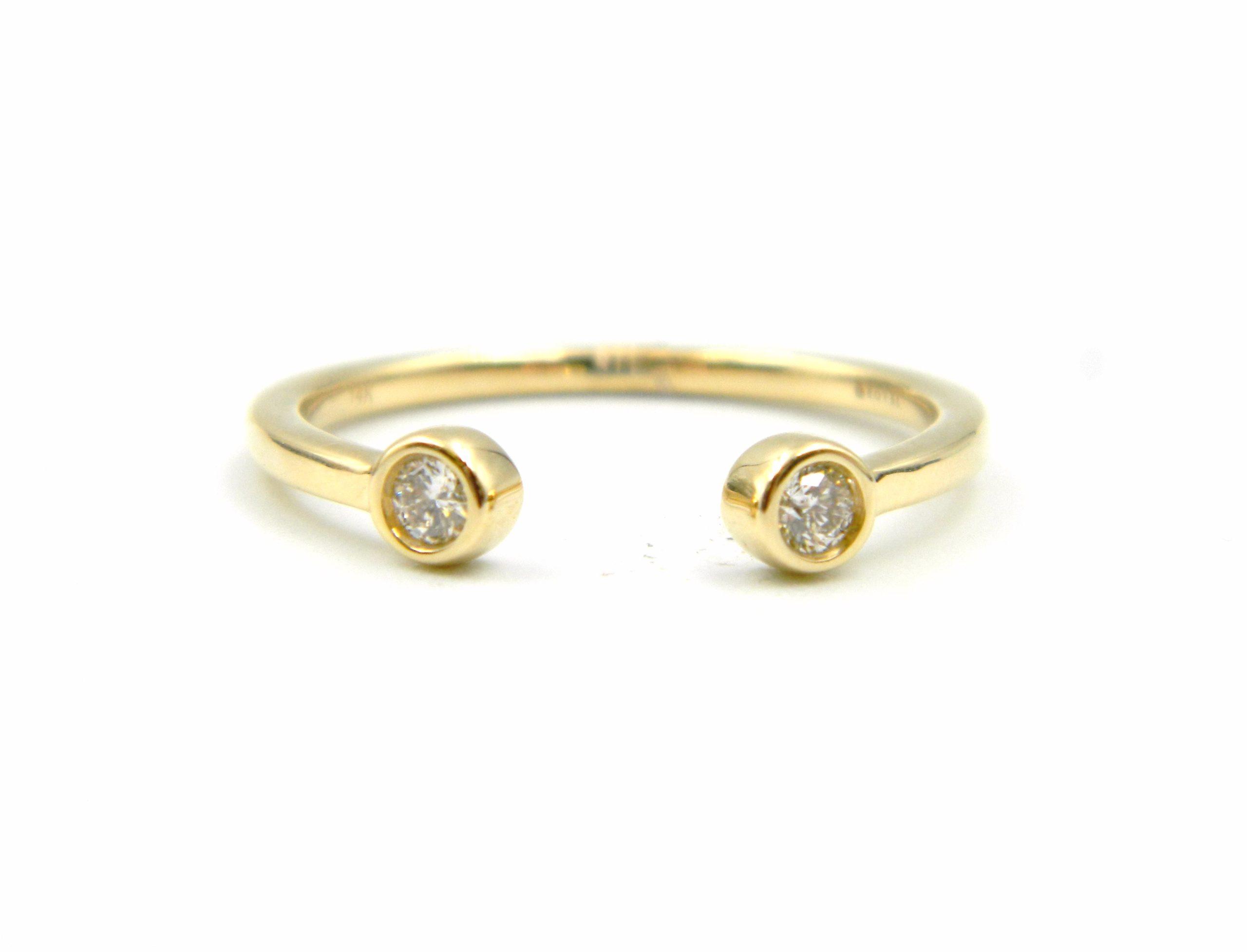 Yellow Gold Open Diamond Ring