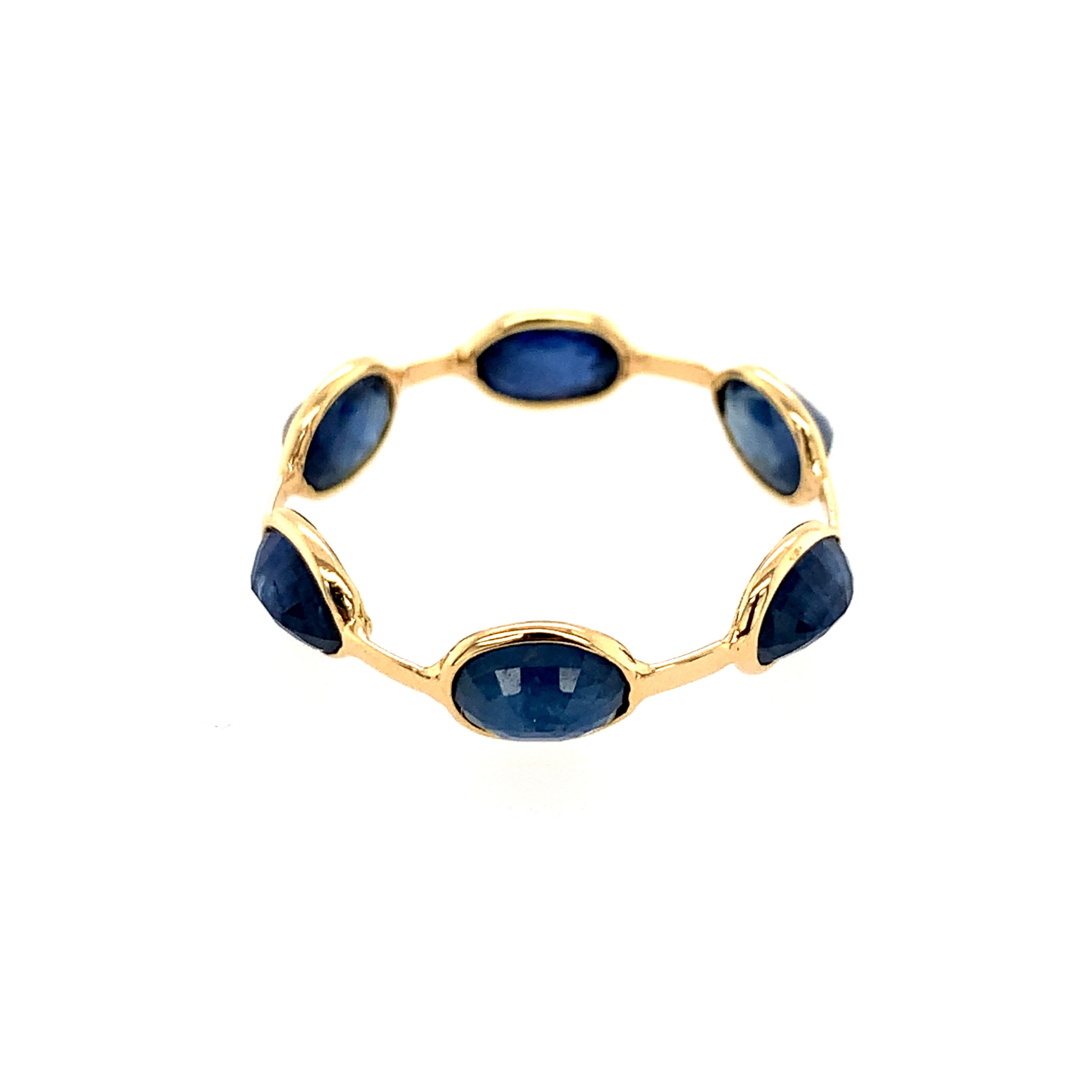 Yellow Gold Sapphire Station Ring