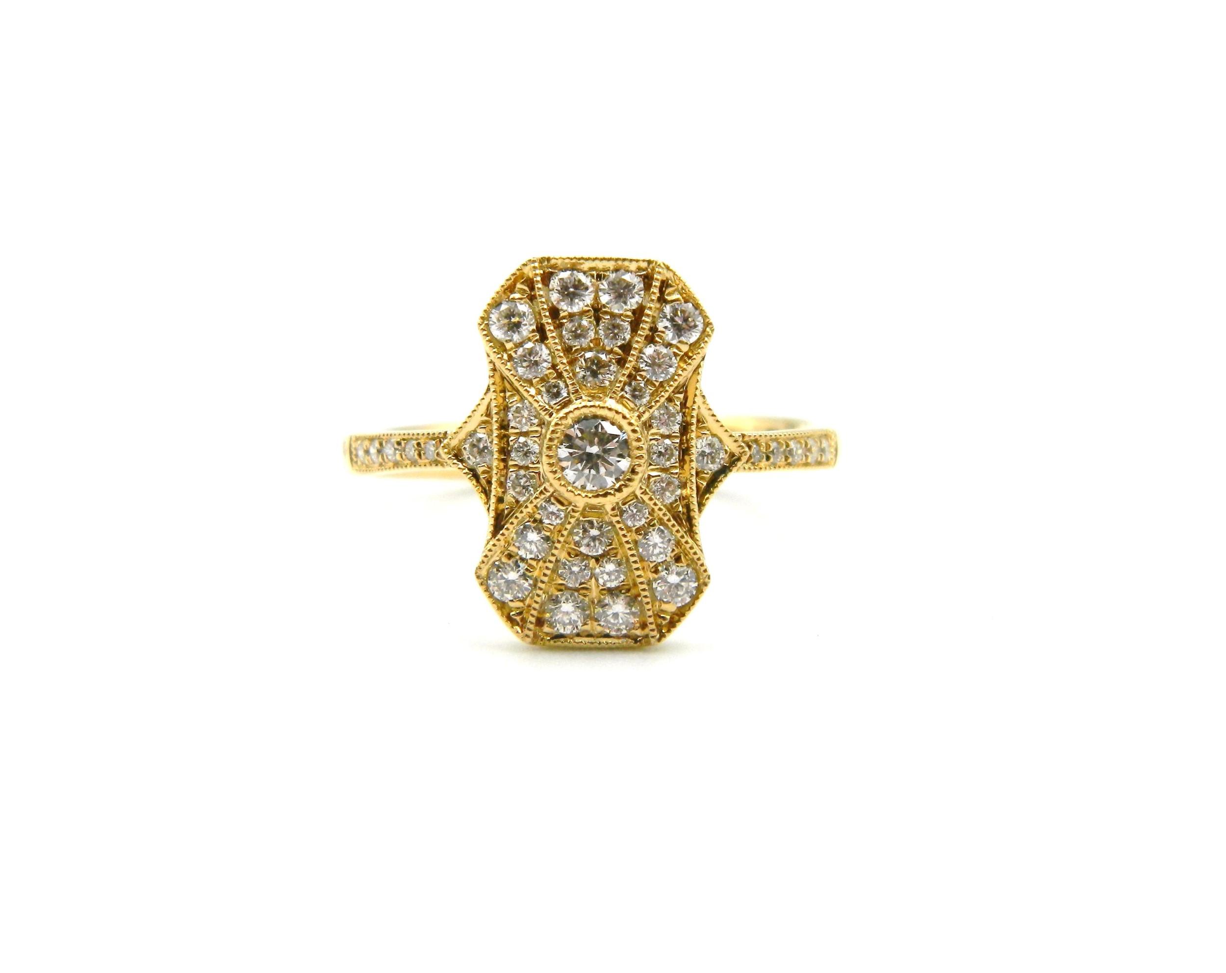 Yellow Gold Diamond Fashion Ring