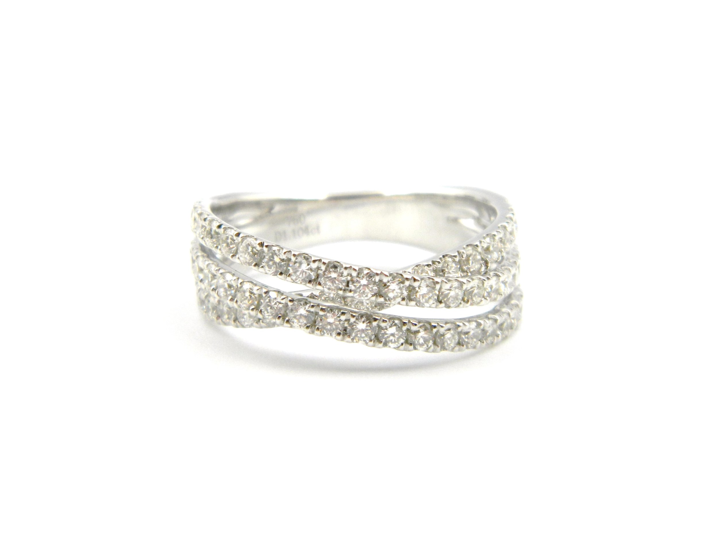 White Gold Diamond Twist Ring