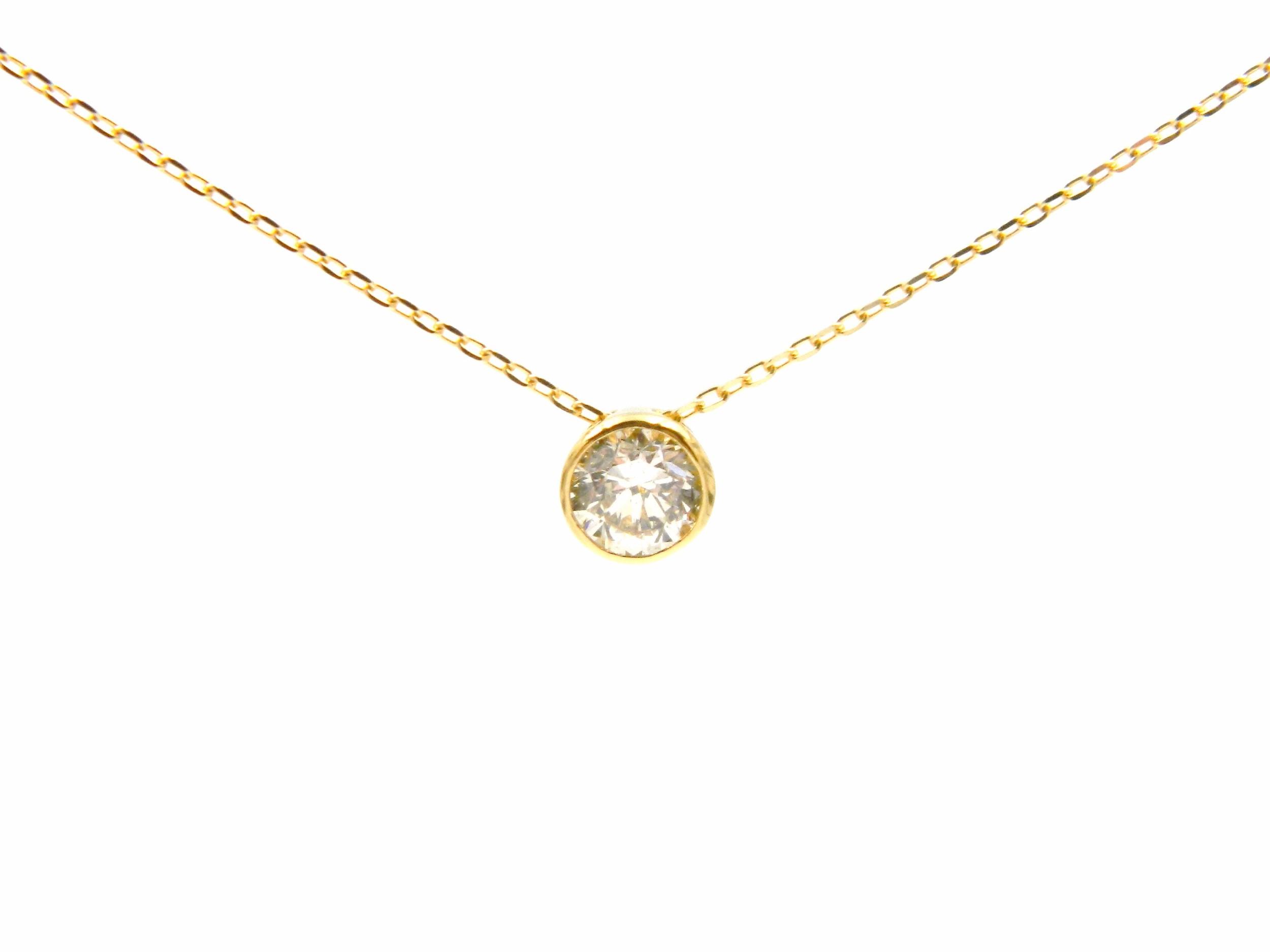 Yellow Gold Diamond Pendant Necklace