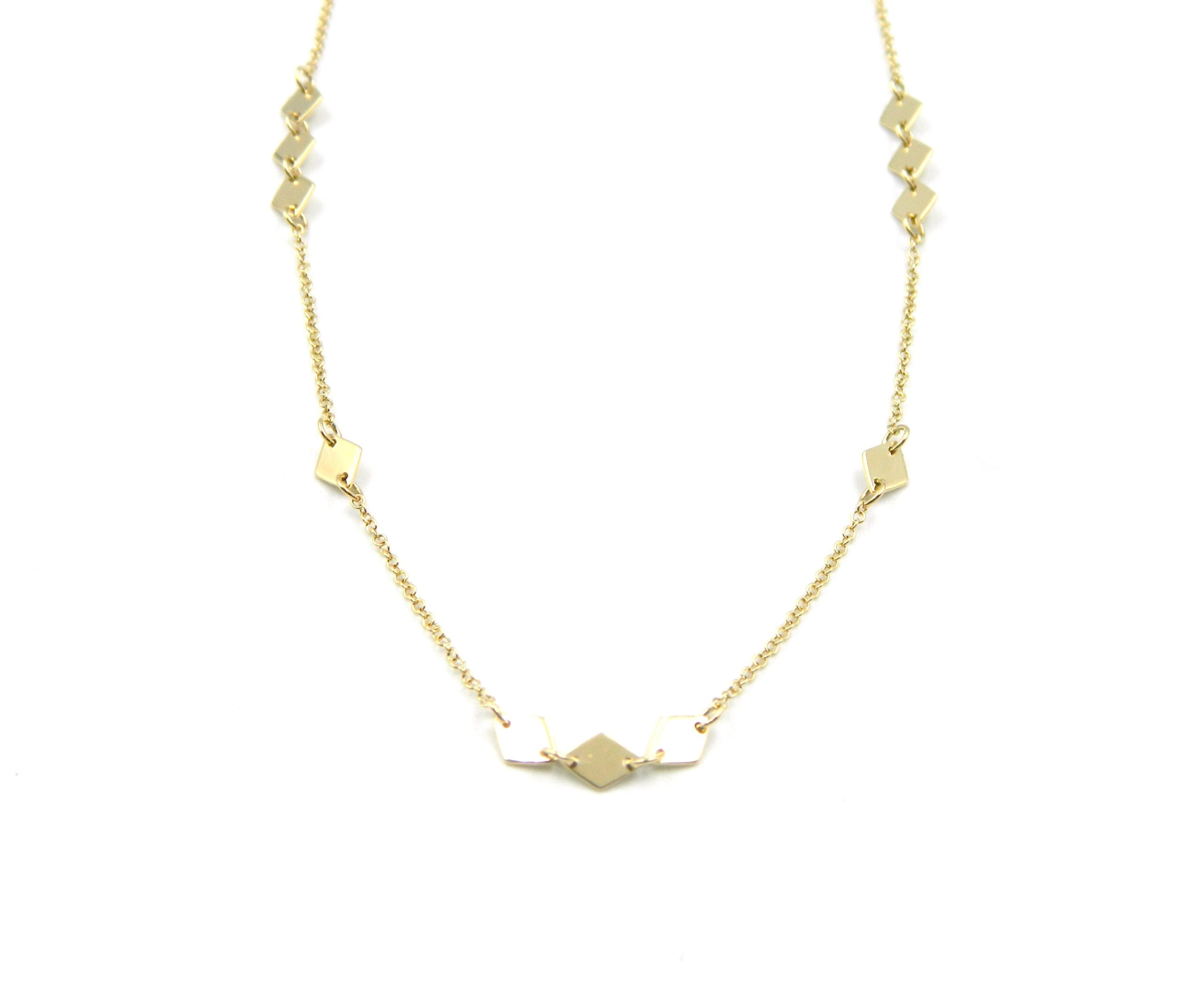 Yellow Gold Station Necklace