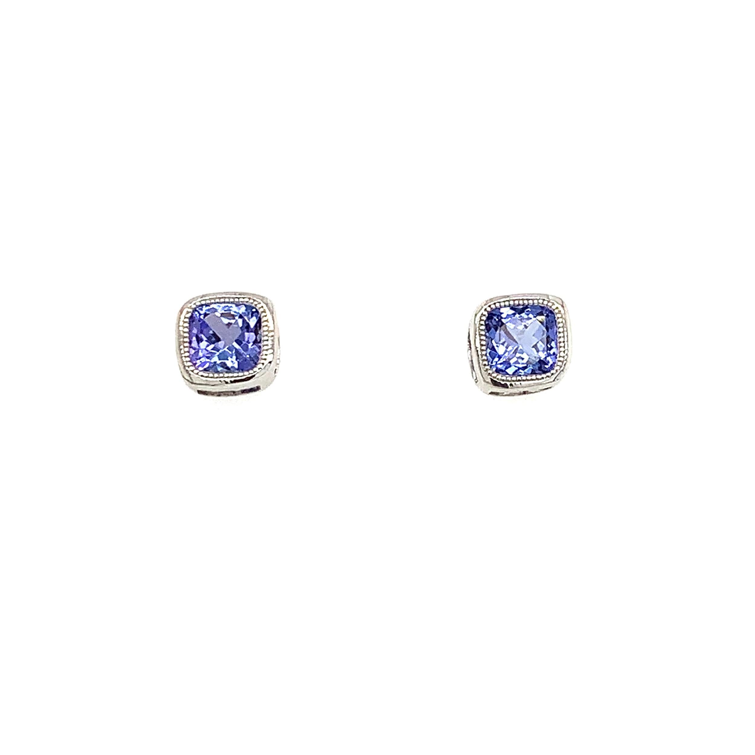 White Gold Tanzanite Earrings