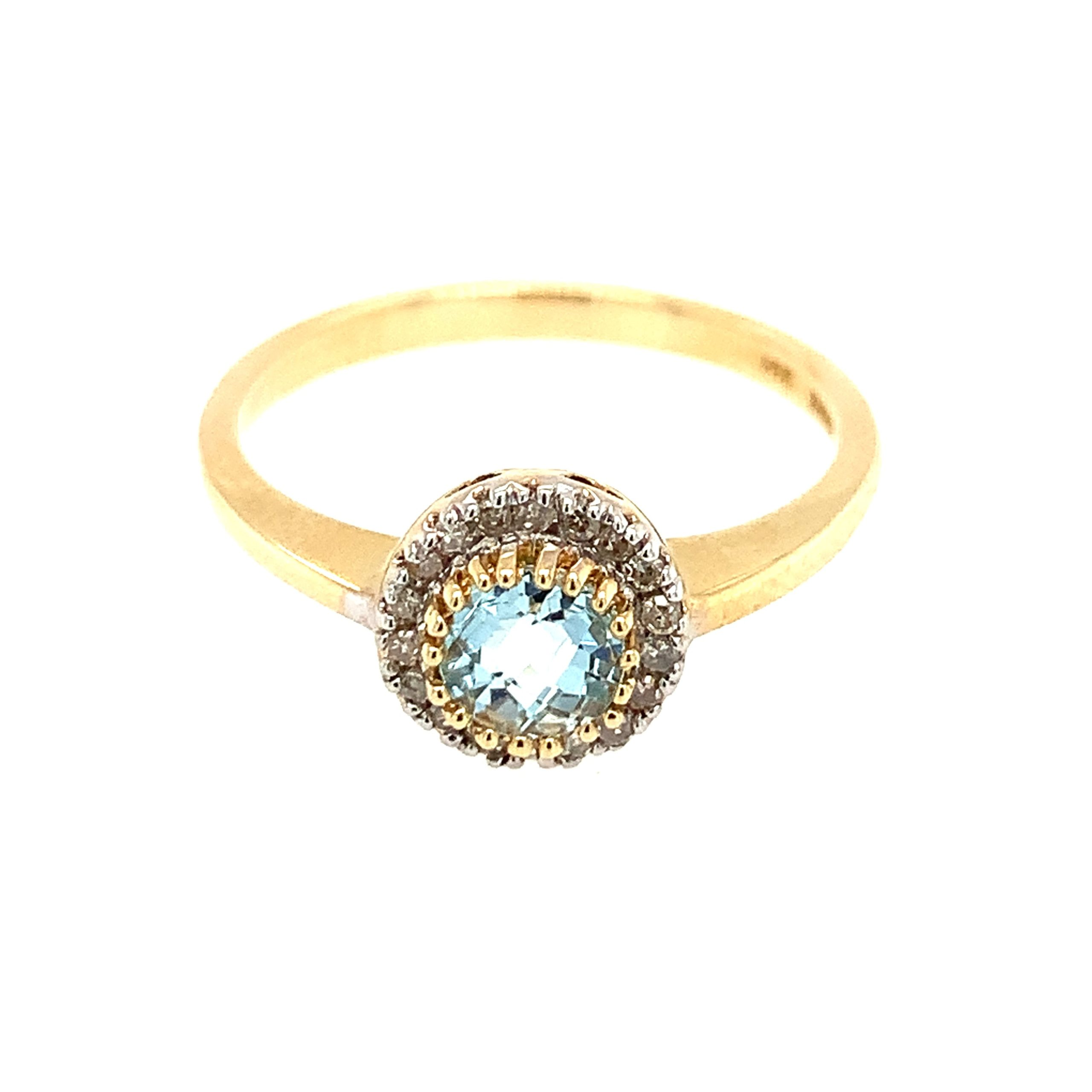 Two-Tone Blue Topaz Ring